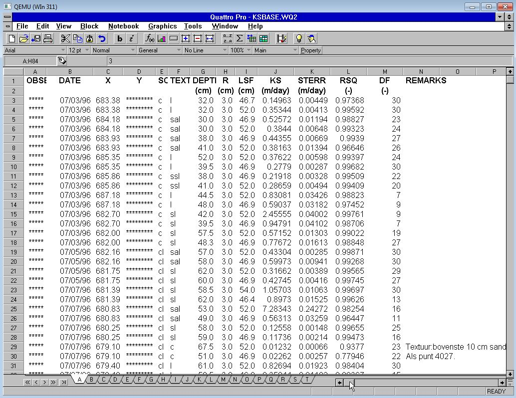 Opening Johans Quattro Pro Files In 6 For Win 311 Circuit Wizard Screenshot Kbasewq2 Qp6