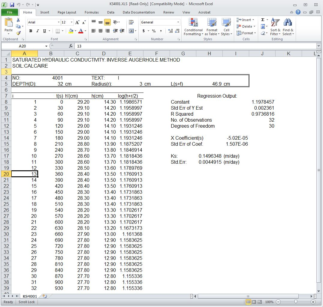 KS4001.xls in Excel 2010