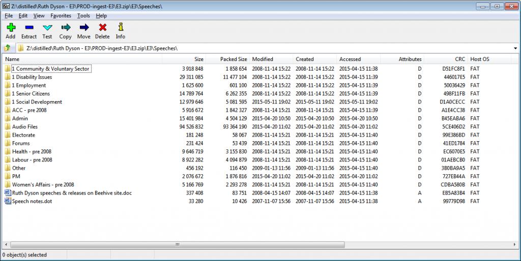 Preservation of Datetime in ZIP Files