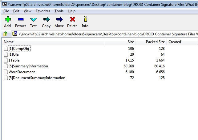OLE2 Structure in 7-ZIP