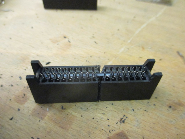 50 pin connector made from two 34 pin