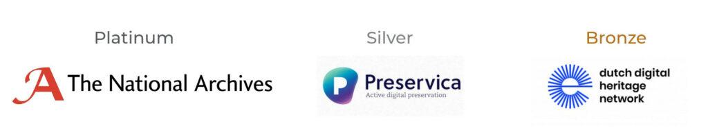 Platinum sponsor: The National Archives, Gold sponsor: Preservica, Bronze sponsor: Dutch Digital Heritage Network