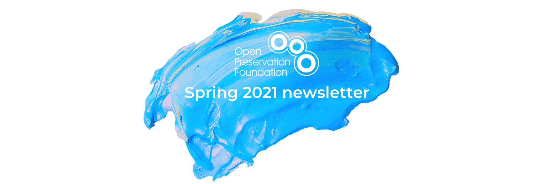 Spring newsletter title banner