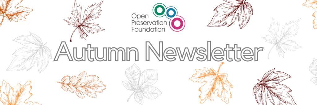Newsletter banner with autumn leaves